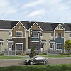 Caernarvon First Place Project – Brownstone color Front Elevation with Annapolis Blue accent siding