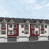 Caernarvon First Place Project – Sage color Rear Elevation with Richmond Red accent siding