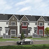 Caernarvon First Place Project – Sage color Front Elevation with Richmond Red accent siding