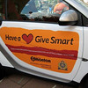 Smart car with side decal