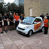 Smart Car with City Police and Diane Dunn