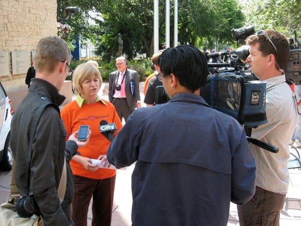 Kathy Barnhart at Have  Heart Give Smart campaign launch