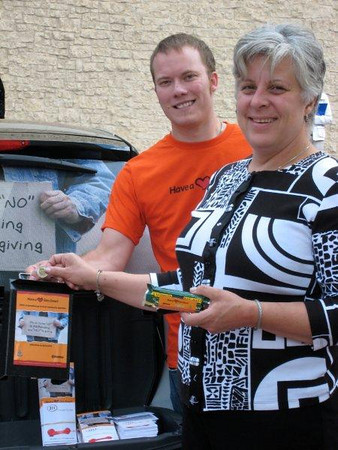 Debi Anderson, Community Services donates her change to social services agencies rather than to panhandlers