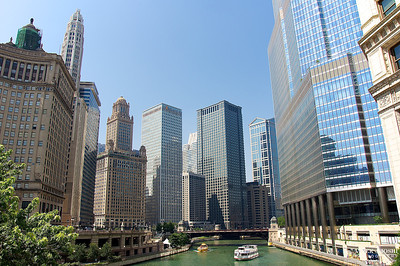 Skyline Over Chicago River