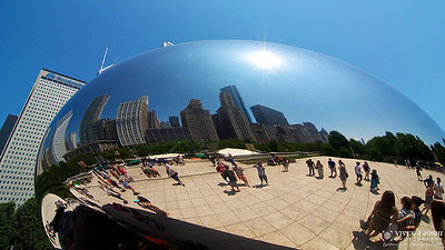 Reflection of Chicago Skyline on The Bean *Cloud Gate)