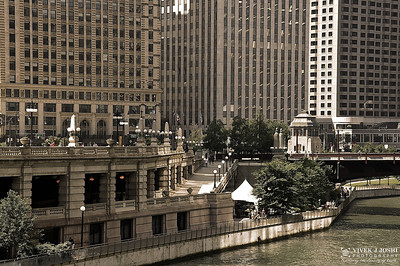 Side Walks Along Chicago River