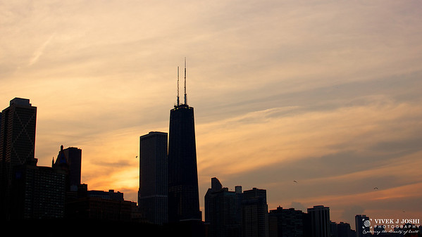 Chicago John Hancock Sunset