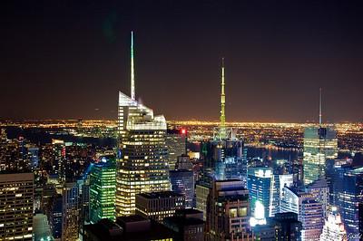 Night View From Rockefeller Center, New York City