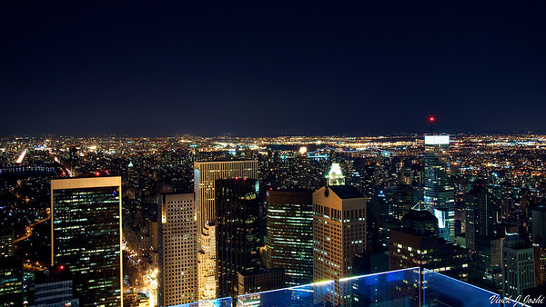 Night View From Rockefeller Center, New York City