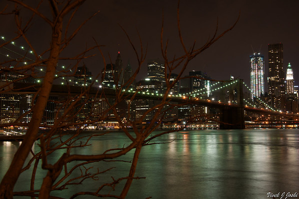 Brooklyn Bridge At Night, NY