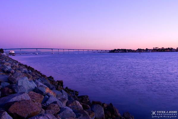Sunset View of Coronado Bridge