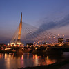 Provencher Bridge with Water Reflections