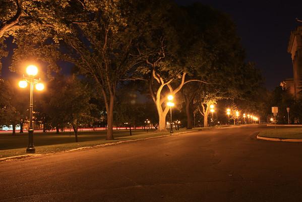 Legislative Building Grounds at Night
