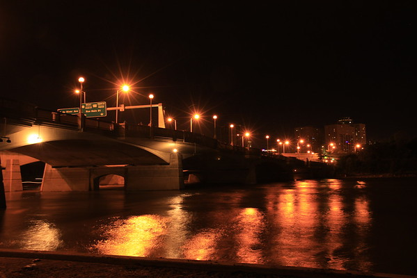 Main Street Bridge at Night