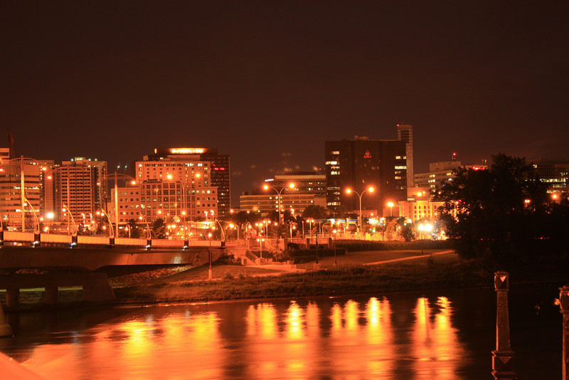 Downtown Winnipeg at Night