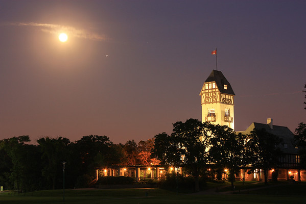 Pavilion, Assiniboine Park, Moonlit Night