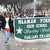 Naaman Forest High School Band marching in Garland's annual NAACP MLK parade.