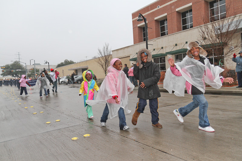Children marching in Garland's annual NAACP MLK parade.