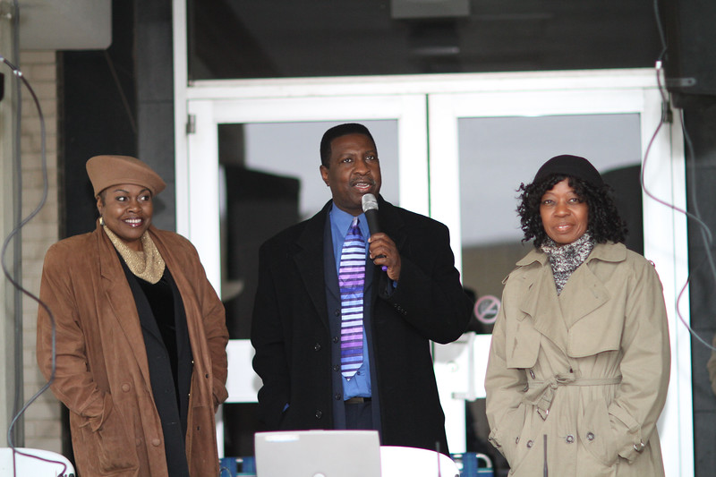 Unknown, Bill R. Wright, Valder Beebe emceed for Garland's annual NAACP MLK parade