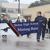 Sachse High School Mustang Band march in the Garland's annual NAACP MLK parade