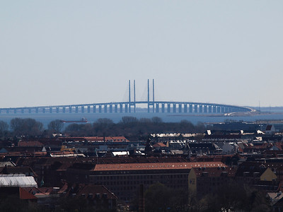 Copenhagen from above. Bridge to Sweden (Øresundsbroen). Photo: Martin Bager.