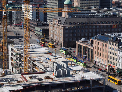 Copenhagen from above. Renovation of 'Industriens Hus'. Photo: Martin Bager.