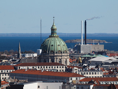 Copenhagen from above. Marble Church. Photo: Martin Bager.