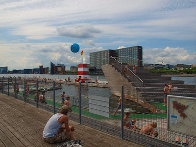 There is two Harbor pools in Copenhagen they are open to public all summer. Photo: Martin Bager.