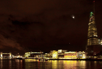London by night, November 2011. Photo: Martin Bager.