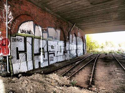 Urban decay. Closed down rail track in Copenhagen. Photo: Martin Bager.