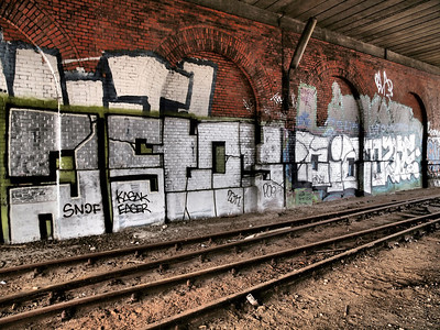 Urban decay. Closed down rail track in Copenhagen. Photo: Martin Bager.