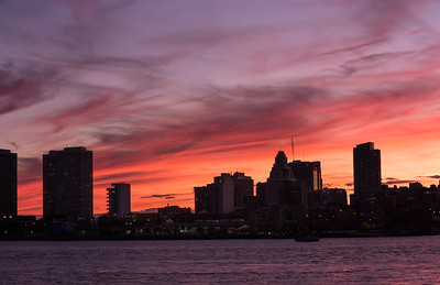 Philly Skyline Sunset