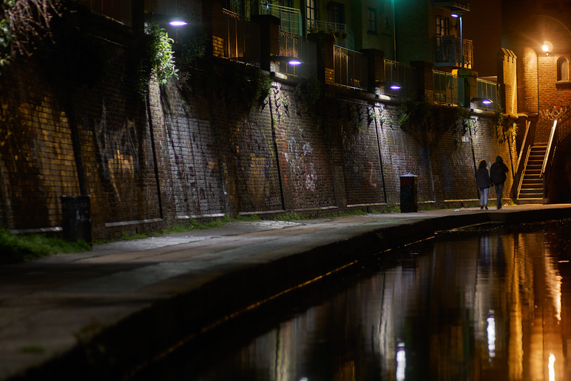 Camden canal by night