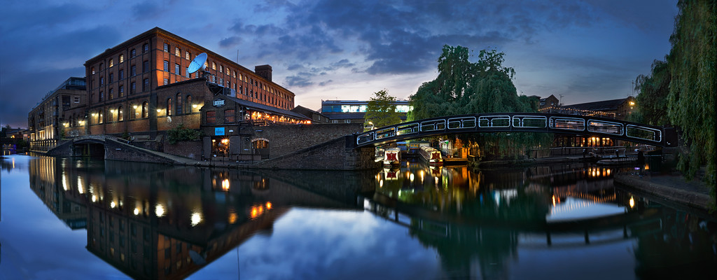 Camden market by the canal