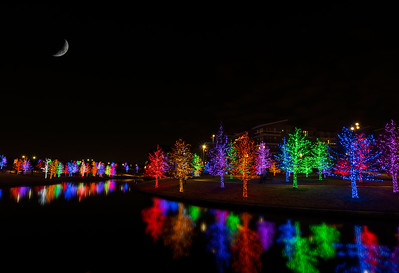 Vitruvian Park Christmas lights