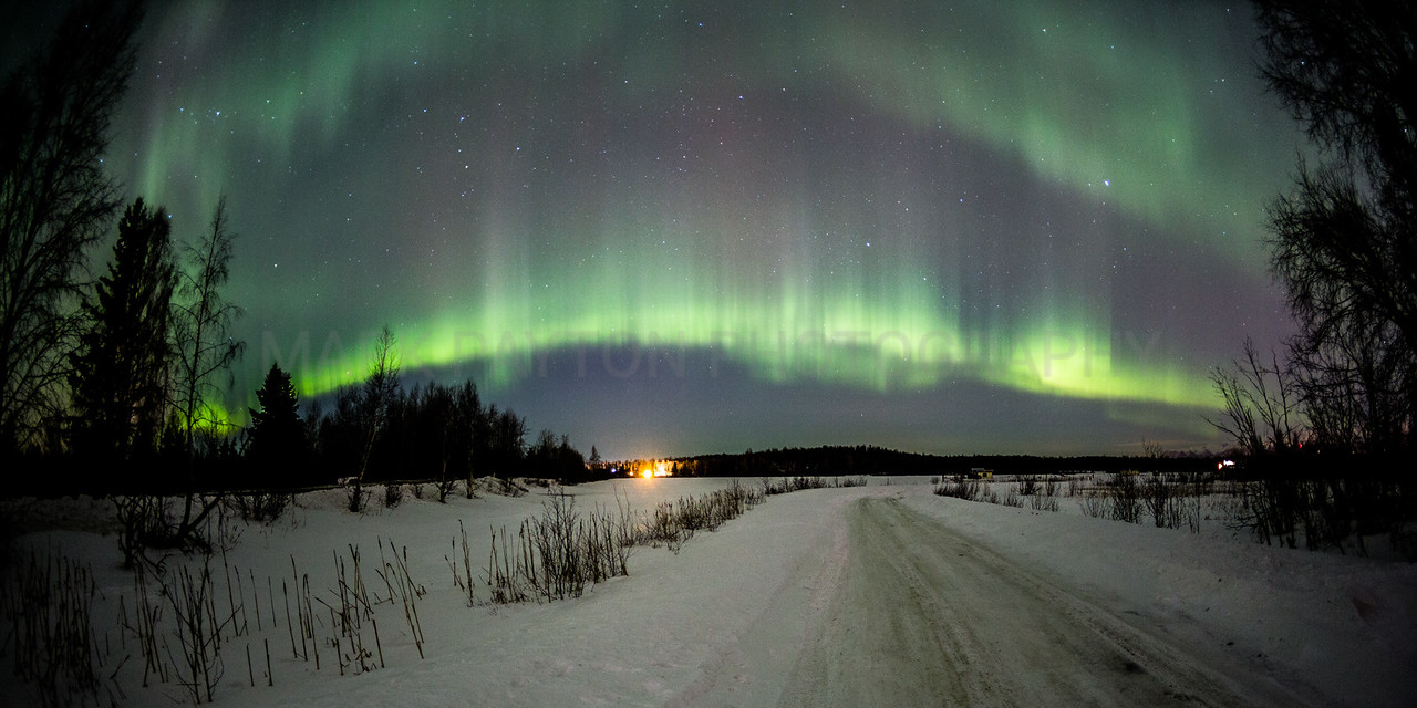 Aurora Ribbon of Lights<br /> <br /> Canon 5D MK III<br /> Canon EF 15mm f/2.8 Fisheye<br /> Anchorage, Alaska