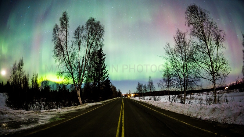 Aurora Filled Skies<br /> <br /> Canon 5D MK III<br /> Canon EF 15mm f/2.8 Fisheye<br /> Anchorage, Alaska