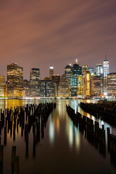 Summer evening overlooking lower Manhattan