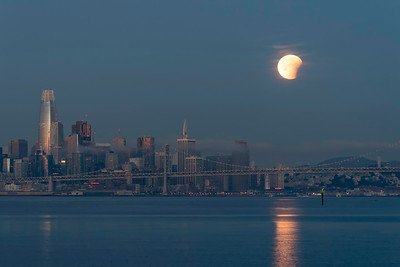 Lunar Eclipse over San Francisco