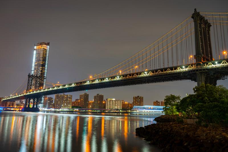 Manhattan Bridge...about 1 AM.