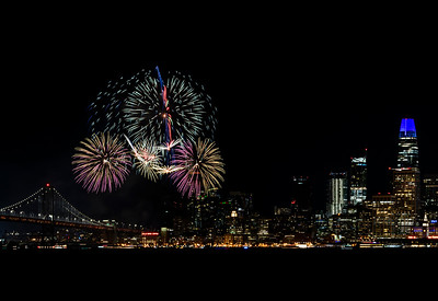 Fireworks over San Francisco