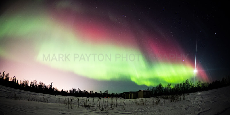 Aurora Borealis Display<br /> <br /> Canon 5D MK III<br /> Canon EF 15mm f/2.8 Fisheye<br /> Anchorage, Alaska
