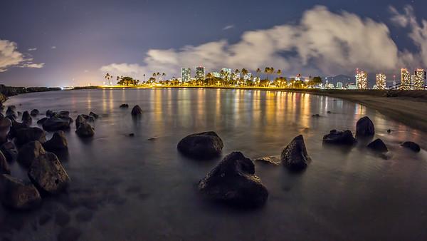 Magic Island Lagoon- Honolulu, Hawaii 2012  Canon 5D MK III Canon EF 15mm f/2.8 Fish-eye