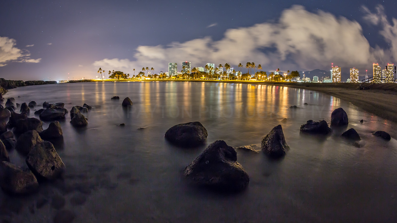 Magic Island Lagoon- Honolulu, Hawaii 2012<br /> <br /> Canon 5D MK III<br /> Canon EF 15mm f/2.8 Fish-eye