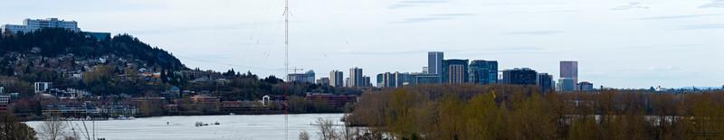 City skyline panorama,  Portland, Oregon, U.S.A.