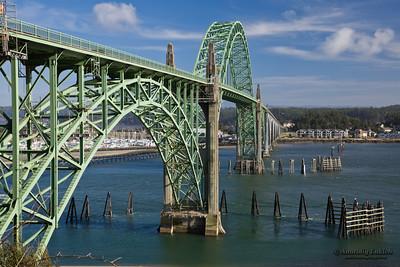 Yaquina Bay Bridge, 1936, Newport, Oregon Coast, Oregon U.S.A.