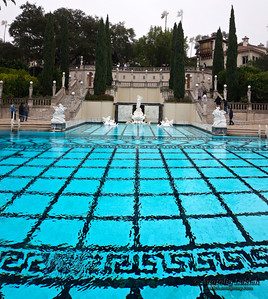 Neptune Pool, Hearst Castle National Historic Landmark mansion in San Simeon, California.