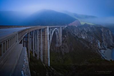 Bixby Creek Bridge, also known as Bixby Bridge, is a reinforced concrete open-spandrel arch bridge in Big Sur, California.
