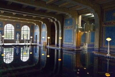 The Roman (indoor) Pool, Hearst Castle National Historic Landmark mansion in San Simeon, California.
