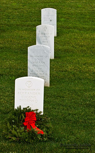 Golden Gate National Cemetery on Christmas, U.S. National Cemetery, San Bruno, CA.